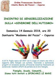 """Incontro di sensibilizzazione sulla """"sindrome dell'autismo"""""""